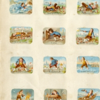 Scrapbooking cards : Gulliver's Journay to Lilliput and Military Scenes