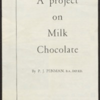 A project on milk chocolate