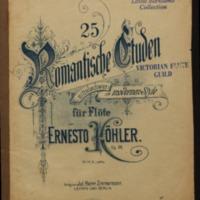 25 romantische Etüden : mittelschwer, im modernen Stil, für Flöte allein, op. 66 / von Ernesto Köhler.