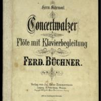 Concertwalzer : für Flöte mit Klavierbegleitung : op. 39