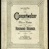 Concertwalzer : für Flöte mit Klavier : op. 21