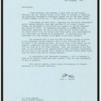 A letter from Ambassador Jeldres to Prince Sihanouk reporting on the arrival of a new letter from the Australian Foreign Minister and the support Australia continues to provide to the the Pol Pot regime.