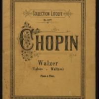 Valses / de Fr. Chopin ; transcrites pour piano & flute par O. Standke.