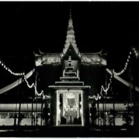 Preah Men (Funeral Pavilion) lighted at night