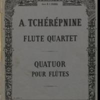 Quatuor pour flûtes / Alexandre Tchérépnine.