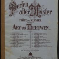 Melodie / Fr. Chopin aus Op. 13 ; für Flöte und Klavier bearbeitet von Ary van Leeuwen.