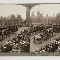 Great Victory March of the Empire's Forces ; Artillery crossing Westminster Bridge