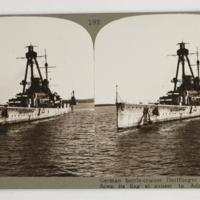 German battle-cruiser Derlflinger which hauled down its flag at sunset to Admiral Beatty