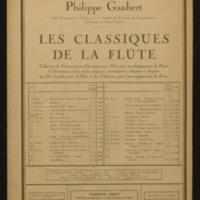 XVe prélude / Chopin ; pour flûte avec accompagnement de piano, Philippe Gaubert.