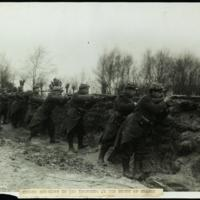 French soldiers in the trenches in the north of France
