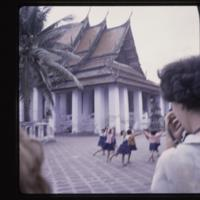 Dance class of children at the temple