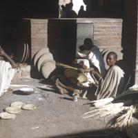 Basket weavers at Asmara market