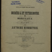 Romanze, op. 44, no. 1 / von Anton Rubinstein ; für Flöte und Pianoforte eingerichtet von Maximilian Schwedler.