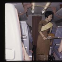 Hostess on Thai Airways flight