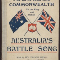Australia's battle song / words by Francis Mason ; music by W. H. Maynard