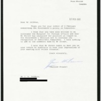 Response from the Australian Prime Minister to Ambassador Jeldres' letter of 4 February 1981