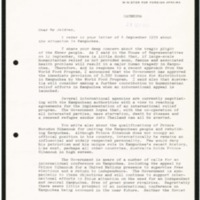 Response from the Australian Foreign Minister to the letter of Ambassador Jeldres, dated 4 September 1979, concerning the situation in Cambodia (Kampuchea)