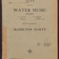 Suite from the Water music / Handel ; arranged for orchestra by Hamilton Harty