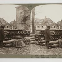 11 inch shells abandoned by the Germans in their headlong flight across the Rhine