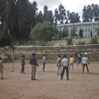 Boys at games at Haile Selassié Boys Secondary School