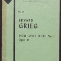 Peer Gynt -- suite I : op. 46 / Edvard Grieg ; arranged by Charles Woodhouse