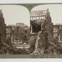 Shattered ruins of Albert, lost and retaken in critical days of great German offensive